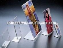 high quality L shape acrylic photo frame stand holder