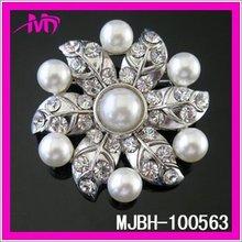 Sparking flower pearl rhinestone brooch pins for wedding