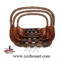 wicker cat basket with handle