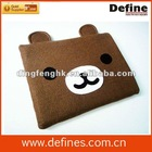 animal shape cute felt laptop sleeve with EN71 approved
