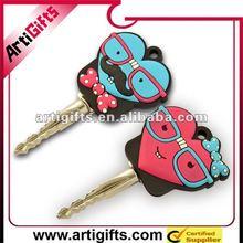 Promotion soft pvc cute key caps