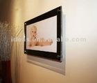 Wall mounted black acrylic photo frames