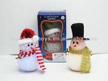 2012 LED flashing snow man chrismas gift