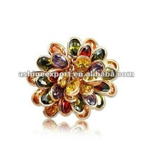 2012 latest top quality crystal cluster ring