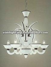 murano specialty milky white chandelier 8122C-6