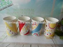 stocked ceramic 9oz porcelain coffee mugs