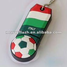 New design PVC animal shape usb flash drive for euro cup