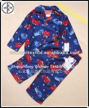 kids/boys car cartoon printed flannel pyjamas