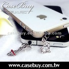 lovely pair of mobile phone accessory for iphone plug