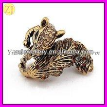 Zinc Alloy Rhinestone Animal Rings Jewellery Paypal JZ-407