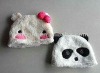 handmade child warm winter panda hats