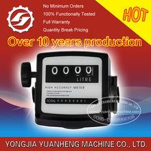diesel fuel flow meter with mechanical register