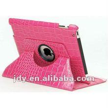 For pink crocodile leather 360 ipad case