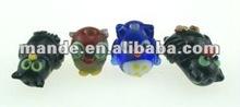 Beads Handmade Lampwork glass, assorted colors owl