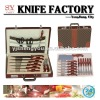 24pcs knife set with leather case