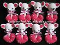 Feitas à mão de malha crochet natal educativo baby brinquedos para crianças, baby chuveiro favor do presente do mouse crochet brinquedos e bonecas