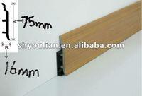 wood plastic composite skirting wpc skirting board