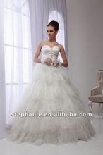 A6573 Guangzhou Stephanie 2012 New Design Beaded Sweetheart Neckline Arabic Wedding Dress