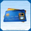 Credit card size Cr80 silver embossed card