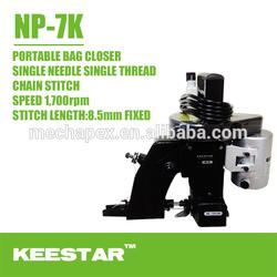 Keestar NP-7K Single needle single thread portable bag closer