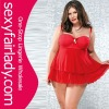 hot sale bright red sexy plus size lingerie