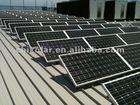 Steel solar panel mounting
