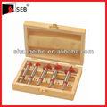 platino grado 5 piezas de madera caja de la bisagra tct poco aburrido conjunto
