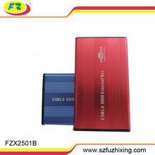USB 2.0 to SATA Hard Drive HDD Aluminum External Case Enclosure 1TB Black 2.5 inch