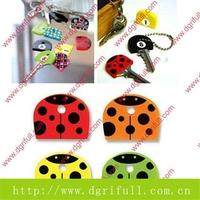 Can customized Lovely Ladybug silicone key strap