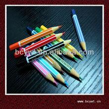 """3.5""""Multi Fluorescent Colored Stripe Pencils For Students"""