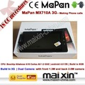 2g gsm costruito nel 3g doppia fotocamera tablet pc con telefonate 8gb android os 4.0 mapan mx710a 3g