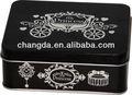 Pequeñas de metal de estaño regalo empaquetado de la caja con tapa con bisagras cd-295