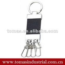 Hook ring key holder leather