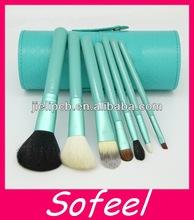 7pcs Travel kits blue handle synthetic makeup brush set makeup china supplier