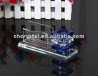 crystal business name card holder and pen holder gift set,
