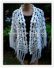 100 % Hand Crocheted Shawl For Ladies, 2013 Fashion Scarf Design (KCC-PJ002)