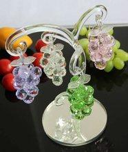 lembrança de casamento presente de cristal de vidro de uva e frutas