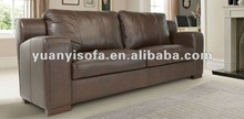 Modern brown sofa, leather sofa, living room couch YYL2025