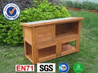 wooden rabbit cage High Quality Honey Comb Wood Stain rabbit House