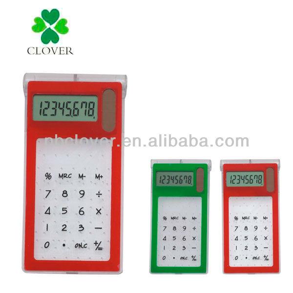 transparent solar touch screen calculator / solar calculator / mini calculator