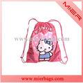 Película de animación personaje de dibujos animados de los niños de la escuela bolsa, de viaje drawsting bolsas mochila de moda y precio barato