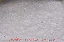 2012 fashion 60*60/90*88 white voile cotton embroidery fabric