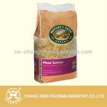 transparent plastic bag for cereal packaging material