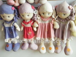 2012 fashion plush doll for children