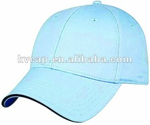 High Visibility protective reflective Safety Sports Hat/cap light blue baseball hat flashing light hats