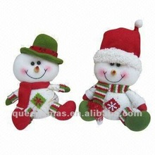 Fabric christmas snowman decoration