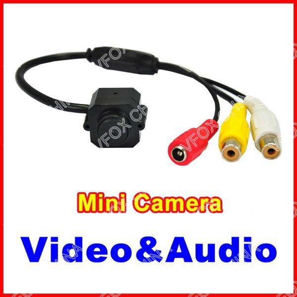 Mini Wired Security Pinhole Hidden CCTV Camera Hidden Surveillance Color Video & Audio Indoor Camera