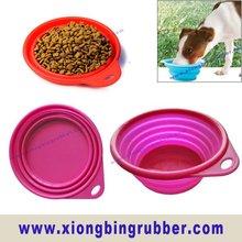 Mini size portable foldable travel dog bowl