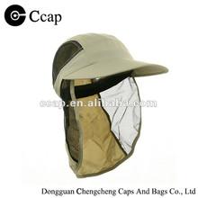Custom summer polyester large peak flap cap with side mesh