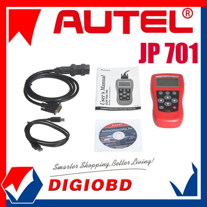 Del motor, un/t, abs, y las bolsas de aire para los principales vehículos japonés global obd ii/eobd cobertura maxidiag jp701 escáner de código